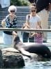 Katie Holmes, sa mère et sa fille Suri Cruise au zoo de Central Park