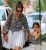 Katie Holmes et sa fille Suri Cruise au MOMA de New York